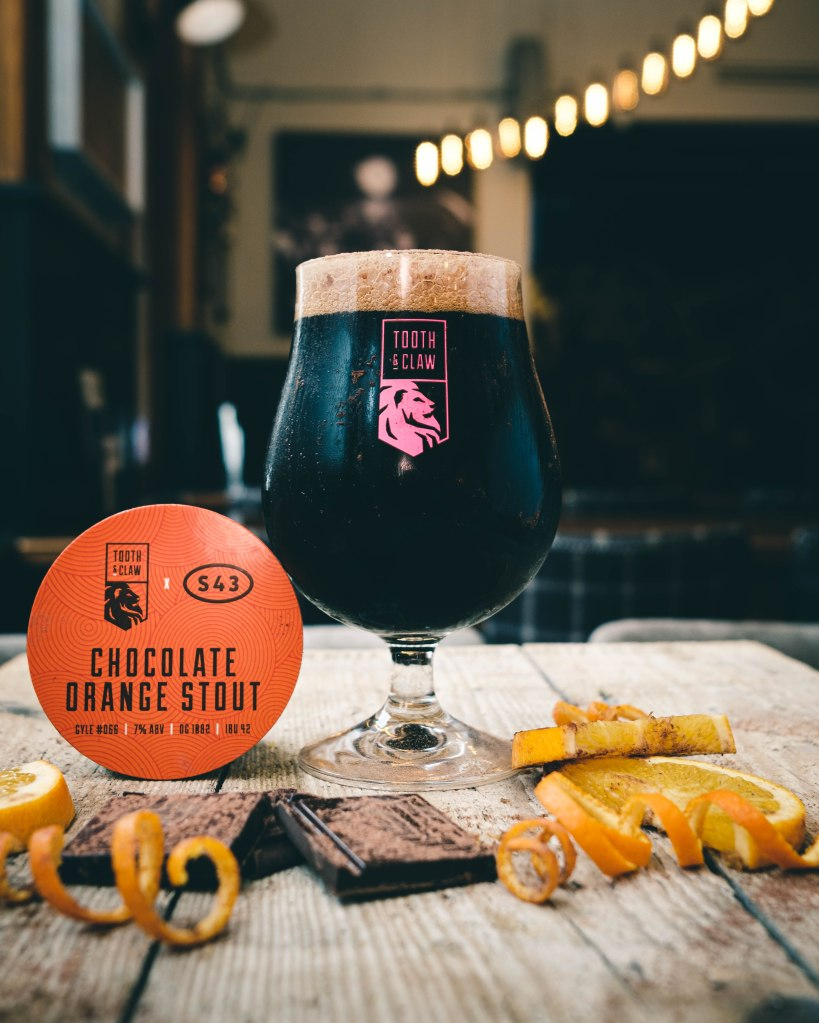 Tooth & Claw Brewery Chocolate Orange Stout
